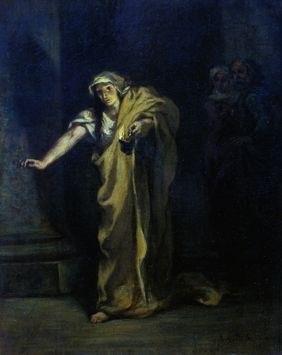delacroix_Lady Macbeth somnambule, 1850, Eugène Delacroix. Beaverbrook Art Gallery, New Brunswick, Fredericton. Huile sur toile,.jpg