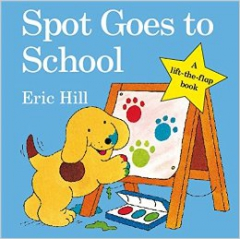 eric hill,chien spot,where's spot ?,spot says goodnight,spot goes on holiday,spot goes to the park,splish,splash spot !,albums jeunesse,albums jeunesse anglais