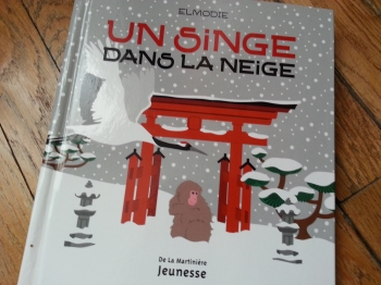 elmodie, un singe dans la neige, challenge un mois au japon, albums enfants japon